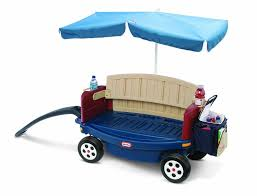 amazon com little tikes deluxe ride and relax wagon with umbrella