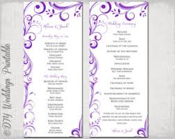 Wedding Booklet Templates Catholic Wedding Program Template Champagne Scroll