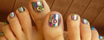 foils on toes nail design youtube