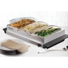 Elite Platinum Stainless Steel Buffet Server by Holiday Cooking Essentials Buffet Server And Buffet