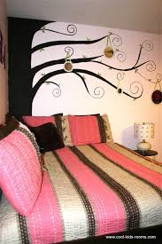Pink And Brown Teen Girl Bedroom Decorating Cynthia  Theo - Teenage girl bedroom designs idea