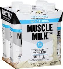 100 calorie muscle milk light vanilla crème muscle milk vanilla creme 100 calorie non dairy protein shake 4pk