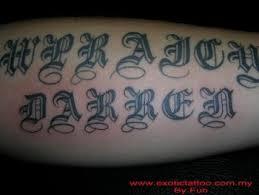 imagenes letras goticas nombres de una frase con letras góticas
