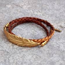 leather leaf bracelet images Vintage leaf genuine braided greek leather wrap bracelet jpg