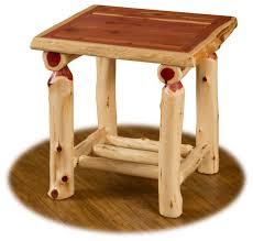 Rustic Side Table Rustic Red Cedar Log End Table Rustic Side Tables And End