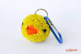 mollymoocrafts pom poms bag charms u0026 keyrings