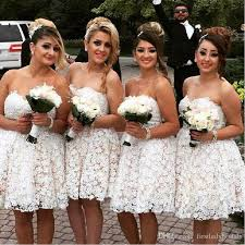 custom made wedding dresses uk 2017 lace bridesmaid dresses sweetheart mini empire ivory