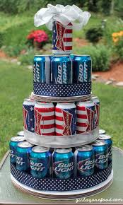 beer can tower cake