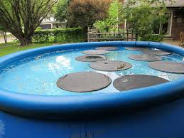pool cover water pump pool lilly pad solar cover