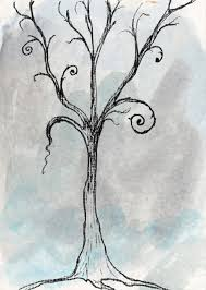 tree greeting card for sale by jacquie gouveia tim burton