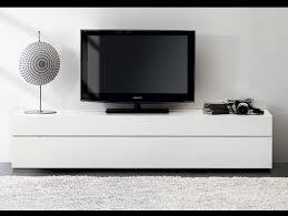 furniture accessories white modern polished wood media console
