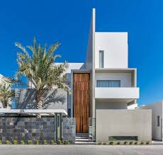Modern Style Luxury Villa Exterior Luxurious Three Level Home Exhibiting A Complex Modern