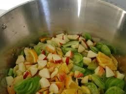 cuisiner les tomates vertes confiture de tomates vertes oranges basilic la cuisine de nat