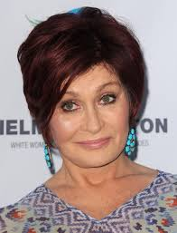 back view of sharon osbourne haircut 2014 sharon osbourne s short hairstyles red short hair with side