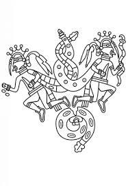 imagenes mayas para imprimir dibujo de héroes gemelos mayas para colorear dibujos para colorear