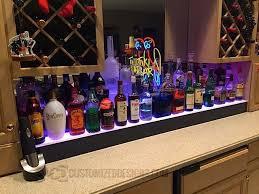 led lighted bar shelves innovation idea liquor display shelves marvelous ideas led lighted