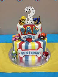 paw patrol cake cakes iced buttercream marshmallow