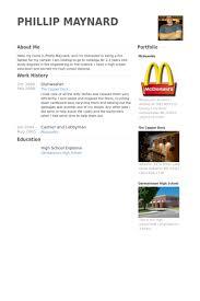 dishwasher resume samples visualcv resume samples database
