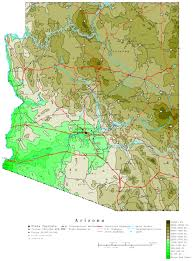 Map Of Greater Phoenix Area by Arizona Elevation Map