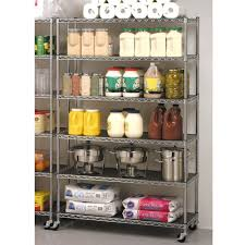 Adjustable Metal Shelves Commercial Metal Steel Rolling Storage Shelving Rack Chrome Wire