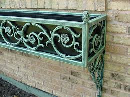 Metal Window Boxes For Plants - window box 2 1 u2013 a detail of a window box using cast iron designs