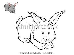 coloring book rabbit stock vector 284578325 shutterstock