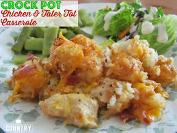 crock pot cheesy chicken tater tot casserole the country cook
