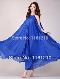 royal blue summer holiday beach maxi dress beach wedding party