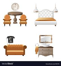 home design elements home interior design elements icons royalty free vector