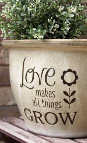30 off diy flower pot decal love makes all things grow