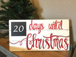 christmas countdown sign days until christmas sign christmas