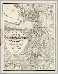 Sound Map Map Of Puget Sound And Surroundings Washington Territory David