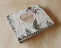Where To Buy Wedding Photo Albums Custom Engraved Birch Wedding Photo Album Or Photo Guestbook