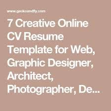 Resume Templates Online Best 25 Online Cv Ideas On Pinterest Online Cv Template
