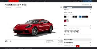 porsche red 2017 2017 porsche panamera configurator reveals the 4s diesel is a 2