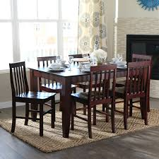 amazon com walker edison 7 piece espresso wood dining set