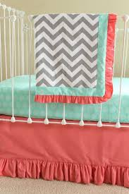 Preppy Crib Bedding Nursery Beddings Coral Navy And Mint Crib Bedding Plus Preppy