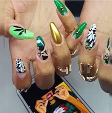 weed nails nail inspiration pinterest weed nails irish