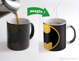 heated coffee mug batman coffee mug 350ml cup color changing magic ceramic heat