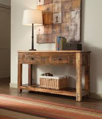 Oak Accent Table Furniture White Oak Console Table Reclaimed Wood Sofa Table