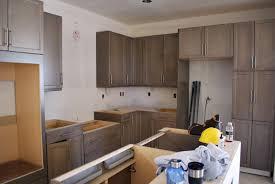 grey washed maple cabinets u0026 cool hardware kitchens pinterest