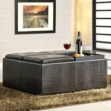 ottomans leather ottoman with tray storage lift top removable