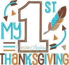 my 1st thanksgiving applique creative appliques