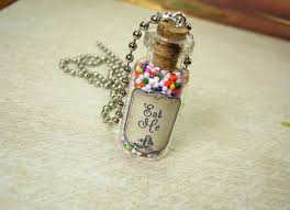 glass bottle necklace pendant images Eat me 2ml glass bottle necklace glass vial pendant charm jpg