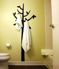wall decorating ideas for bathrooms bathroom towel ideas view in gallery hook and decal combination