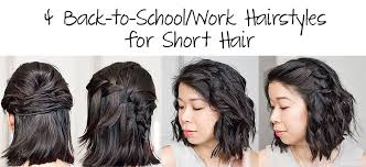 hairstyles for back to school short hair how to 4 easy back to school or work hairstyles for short hair