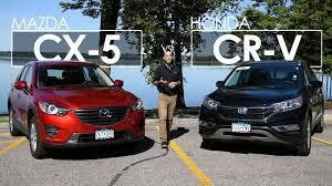mazda cx 5 vs honda cr v model comparison driving review