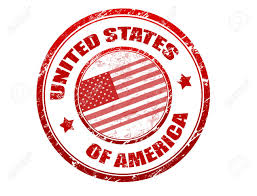 Flag With Red Circle Red Grunge Rubber Stamp With U S Flag And The Name Of United
