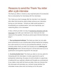 best solutions of should you send a thank letter for an interview