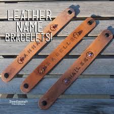 leather bracelet craft images Doodlecraft stamped leather name bracelets JPG